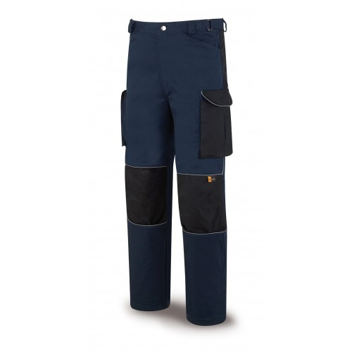 588-PAN blue Trousers whith gap for the knee